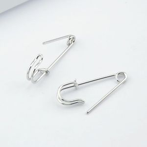 Jewelry - New Silver Safety Pin Earrings